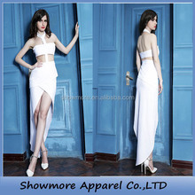 Style No.G5022 hot Halter women white evening dress