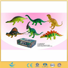 PACKING 6 sets animated dinosaur soft plastic dinosaur toy