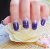 Shanghai Newest High Gloss Whole Wrap Asymptotic Color Nail Patch Sticker