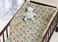 100% cotton baby cot bedding set crib bumper pad,baby blanket