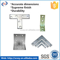 Good quality aluminum stamping l shaped metal bracket