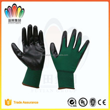 FT SAFETY 13ga Nylon or Polyester with Nitrile Dipped Industrial Safety Gloves