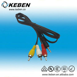 3.5mm to 3 RCA Male Adapter Audio Video Cable Stereo Jack Adapter Cord