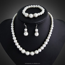 Fashion Women Jewelry sets Shell Pearl Platinum Plated Necklace And Earing Set Austrian Crystal Pendant Party SKJT0121