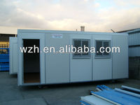 container house with luxuary house design / prebuilt container site office with insulat wall panel