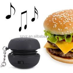 Mini 3.5mm Hamburger Speaker for Apple iPhone 5 6/iPad/Samsung/Laptop/MP3/4/PSP