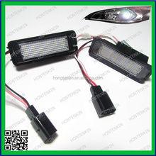 alibaba led lights 12v 3528 canbus error free led license plate light for VW GOLF 5/6/7