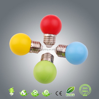 2015 new product!! 0.5w e27/b22 G45 PC led color bulb/Christmas indoor/outdoor decoration light