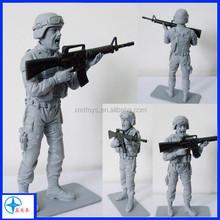 hot film character soldier figurine whith machine gun