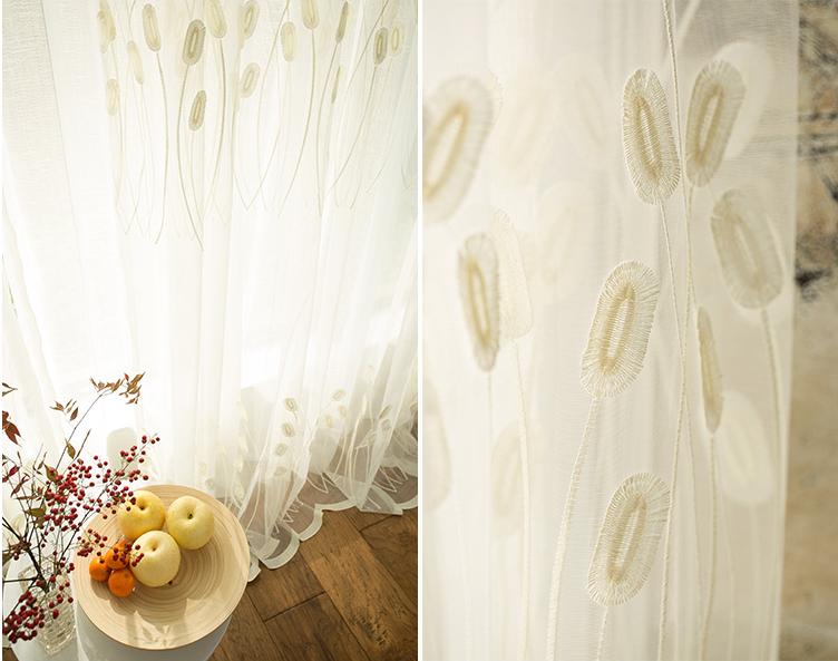 Groothandel reliëf beige luxe sheer gordijnen stof fancy elegantie ...