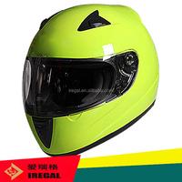yellow motorcycle half helmet
