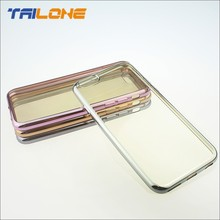 2015 latest hot sell fancy TPU soft gold case for iphone 6 case