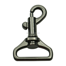 "Wholesale nickel free 1"" zinc alloy gun plating metal strap buckles dog leash snap hook"