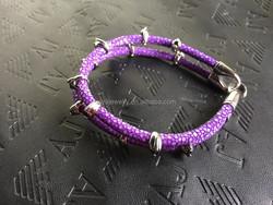 2015 Fashion Skull New Design custom stainless steel mens leather bracelet