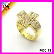 BEST PRODUCTS FOR IMPORT CRYSTAL CROSS RING, FASHION CHEAP CROSS RING FOR WOMEN