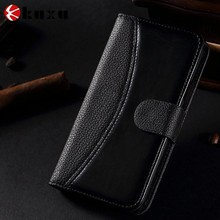Foldable PU/genuine leather phone case men for Samsung phones