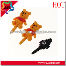 New arrival direct factory price 3D cell phone dust plug/cute dust plug