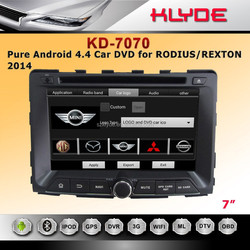 ANDROID 4.4.4 QUAD CORE 16GB 1024*600 MIRROR LINK REAR MONITOR SUPPORT rexton