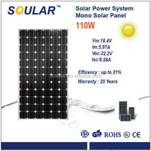 Mono Solar Panel with High Efficency (110 watt)