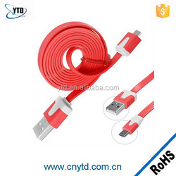 Factory price USB 2.0 flat usb charging cable v2.0 micro usb cable