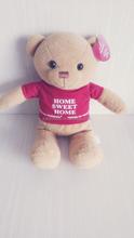 plush stuffed dressed T-shirt bear toys,pearl velvet,wholesale