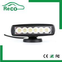 Led machine work light, 9-32v rectangle 18w led working light