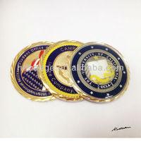 Enamel metal coins/custom metal badges coin/ replica coins for sale