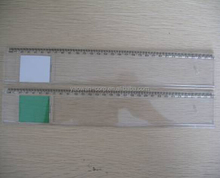 30cm 12inches length plastic magnifier ruler