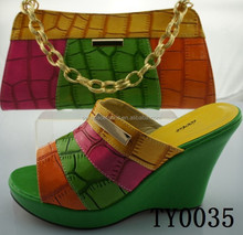 green latest italian matching shoes and bag set ladies shoes and bag to match for nigerian for eveing wedding party