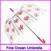 advertise tiny clear children dome umbrella, promotion child transparent dome shaped umbrella, custom kid clear bubble umbrella