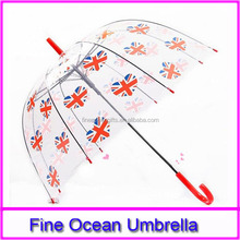 advertise tiny clear children dome umbrella, promotion child transparent dome shaped umbrella, custom kid clear bubble umbrella
