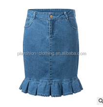 Latest Fashion European StlyeBodycon Skirts Girl Pretty Denim Lady Skirts