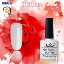X.Kiss ultraviolet nail polish gel, soak off uv gel nail polish, kid friendly nail polish