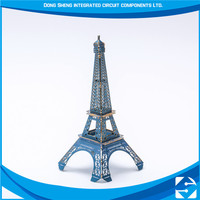 Etching OEM tower puzzle toy metal art gift craft, metal craft decorations, art and craft