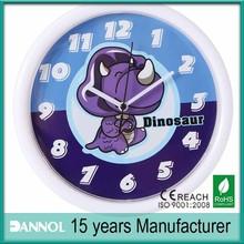 10 inch plastic dinosaur design wall clock/watch batteries in guangzhou
