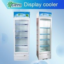 drink chiller , small commercial refrigerator with glass door , single door refrigerator with large capacity