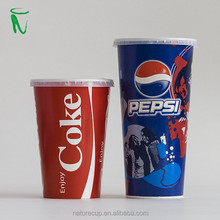 paper cup PS lid cold drink paper cover for 12/16 oz cups