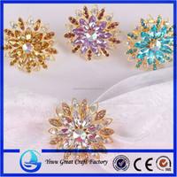 Purple Large Optic Wedding Heart Shaped Napkin Rings For Table Napkin Decoration