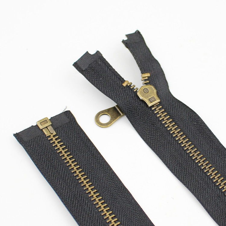 No. 5 metal zipper bronze zipper auto lock open end garment accessories alloy zipper