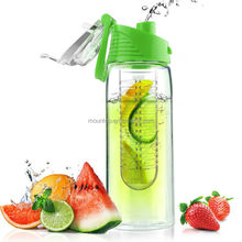 2015 BPA free Christmas gift fruit infusing infuser water bottle plastic new
