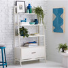 High Quality White Simple Mid-Century Bookshelf/ Living Room Bookcase