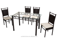 Best Sale Outdoor Furnture Metal Dinning Set Woven Rattan Furniture DS-816(1+4)