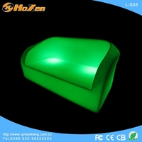 Supply all kinds of LED chair 3 seater,plastic bright colored LED chair