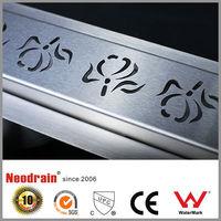 PP PVC PE plastic stainless steel floor drains / shower channel
