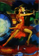 Dancing couple canvas oil painting for wall art buy directly from china