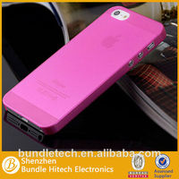 ultra thin matte TPU Case for iphone 5,transparent case for iphone5