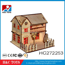 High quality 3d wooden puzzle, hot sale wooden jigsaw puzzle for kids HC272253