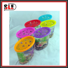 multicolor plastic mini fish tank/ mini usb fish tank/desktop aquarium with decoration