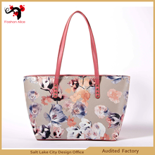 Colorfull mixed leather fashion bag from lady shoulder /crossbody bag
