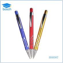 Cheap price ballpoint pen metal pen with laser logo Click Pen